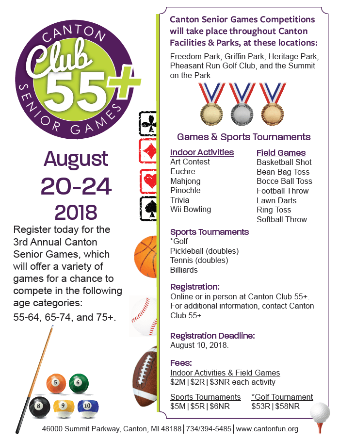 Club 55 Summer Senior Games